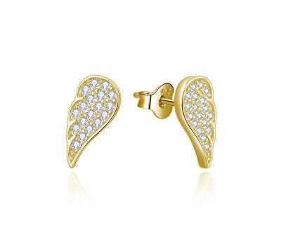 Pozlacené náušnice Andělská křídla AGUP2610-GOLD
