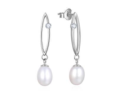 Stříbrné náušnice s pravými perlami AGUC2615P