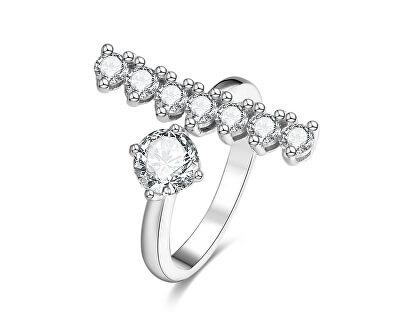 Inel deschis din argint cu zirconiu AGG343