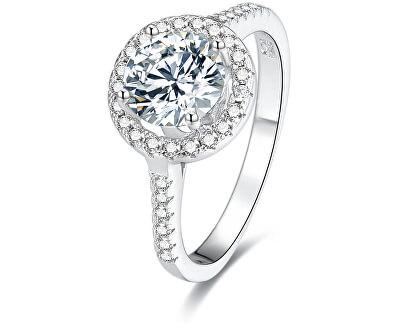 Stříbrný prsten s krystaly AGG193