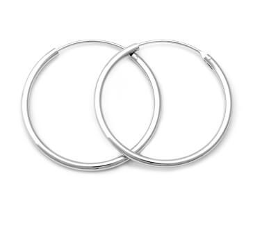 Úžasné stříbrné kruhové náušnice AGUC351