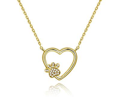 Zlatý náhrdelník Láska k mazlíčkovi AGS702/48-GOLD