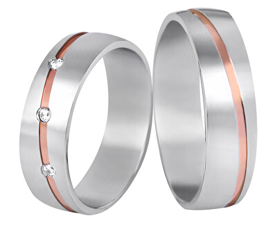 Dámský bicolor prsten z oceli SPD07