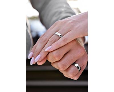 Dámský prsten z oceli s krystaly SPD01