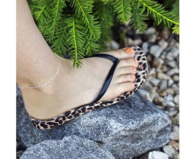 Krásný stříbrný řetízek na nohu Lambáda AGN24