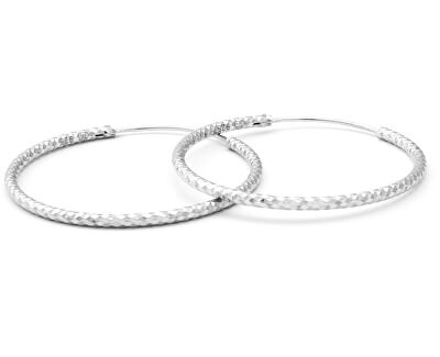 Luxus runde Silberohrringe AGUC357