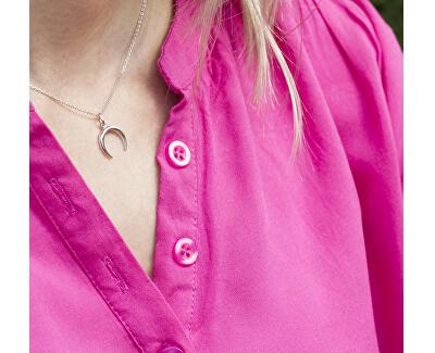 Něžný stříbrný náhrdelník s půlměsícem AGS650/47 (řetízek, přívěsek)