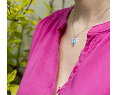 Stříbrný náhrdelník se syntetickým opálem AGS1324/47