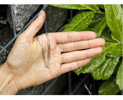 Stylový stříbrný náramek Figaro AGB186