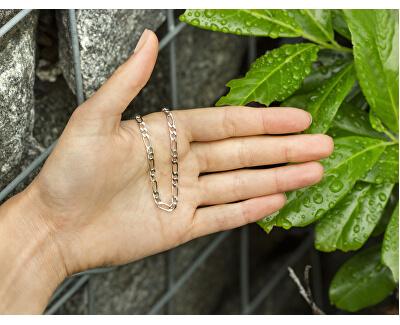 Stylový stříbrný náramek Figaro AGB187