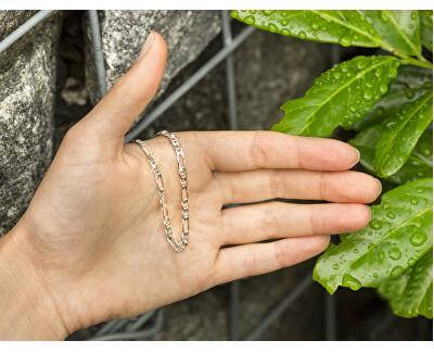 Stylový stříbrný náramek Figaro AGB188