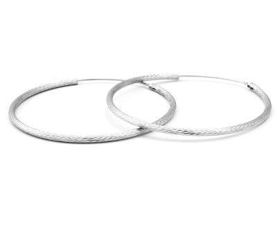 Glitzernde Silber runde Ohrringe AGUC1240