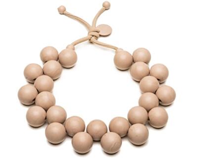 Originální béžový náhrdelník Bioballs Beige C206-0002 BE