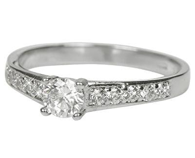 Inel din aur alb cu cristale 229001 00668 07