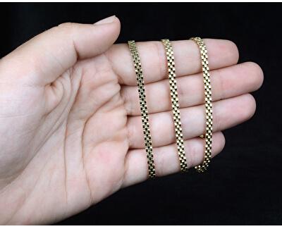 Štýlový zlatý tricolor retiazka 45 cm 271 115 00305