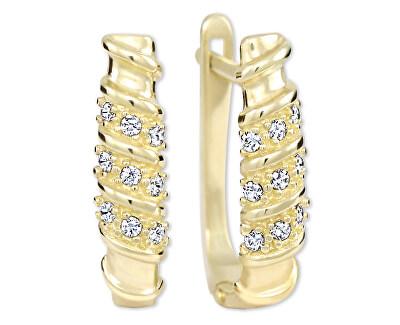 Dámské zlaté náušnice s krystaly 239 001 00980
