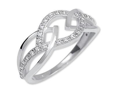 Dámsky prsteň z bieleho zlata s kryštálmi 229 001 00805 07
