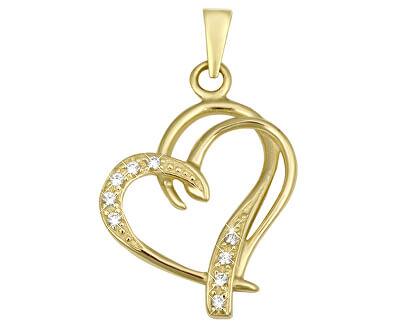 Moda inimă de aur pandantiv 249001 00431