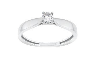 Nadčasový zásnubní prsten z bílého zlata GR114WAU