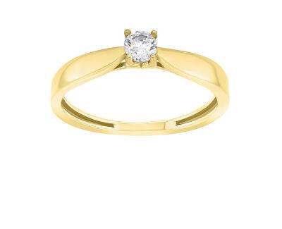 Nadčasový zásnubní prsten ze žlutého zlata GR114YAU