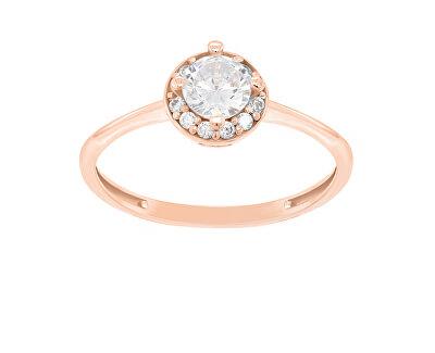 Okouzlující zásnubní prsten z růžového zlata GR003RAU