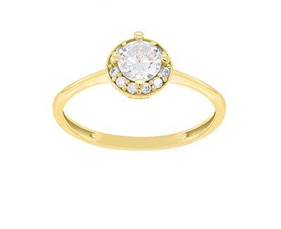Okouzlující zásnubní prsten ze žlutého zlata GR003YAU
