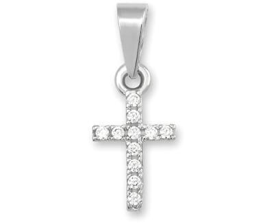 Přívěsek křížek z bílého zlata 249 001 00330 07