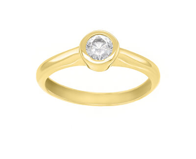 Půvabný prsten ze žlutého zlata se zirkonem SR042YAU