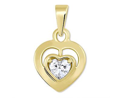 Romantický přívěsek ze žlutého zlata Srdce 246 001 00471