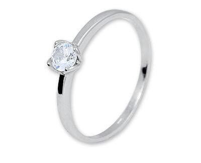 Zásnubní prsten z bílého zlata se zirkonem 226 001 01077 07