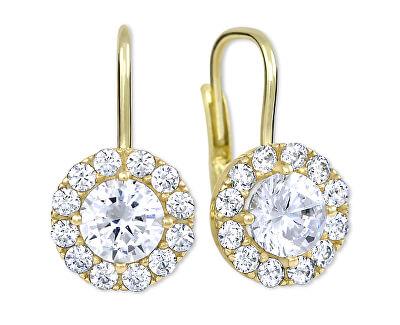 Zlaté náušnice s čirými krystaly 239 001 00979