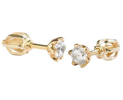 Cercei din aur cu cristale 236 001 00765
