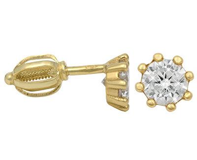 Cercei din aur cu zirconii 236 001 00895