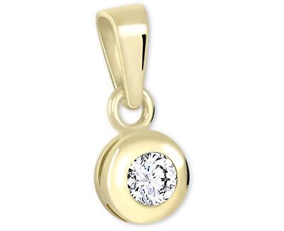 Zlatý přívěsek s krystalem 246 001 00322