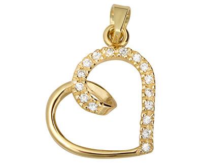 Pandantiv din aur cu cristale Heart 249 001 00451