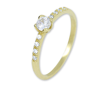 Zlatý prsten s krystaly 229 001 00858