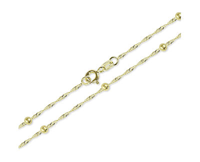 Zlatá retiazka Lambáda s guličkami 45 cm 273 115 00007_nepoužívat