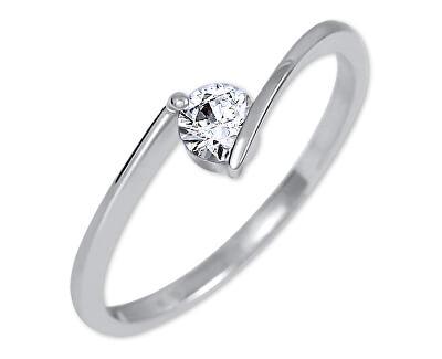 Zásnubní prsten z bílého zlata 226 001 00995 07