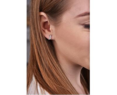 Ohrringe aus Weißgold mit Kristallen 239 001 00519 07