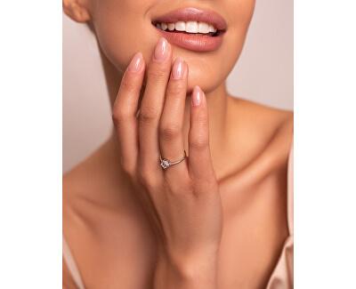 Okouzlující zásnubní prsten z bílého zlata GR003W48AU