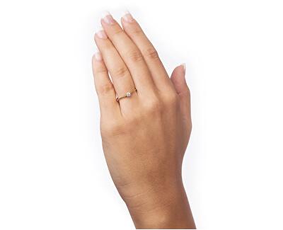 Zásnubní prsten ze žlutého zlata s krystalem 226 001 01036
