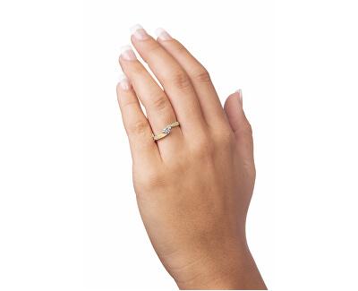 Zlatý prsten s krystaly 229 001 00458