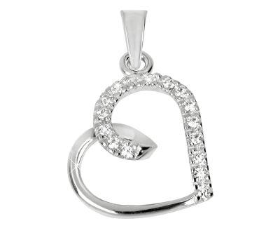 Goldanhänger Herz mit Kristallen 249 001 00451 07