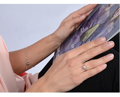Stříbrný zásnubní prsten s krystalem 426 001 00427 04