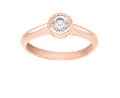 Bronzový zásnubní prsten se zirkonem SR042R