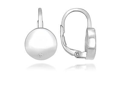 Elegantní stříbrné náušnice se zirkony LME273