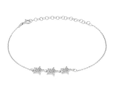 Hravý stříbrný náramek s hvězdičkami BR01W