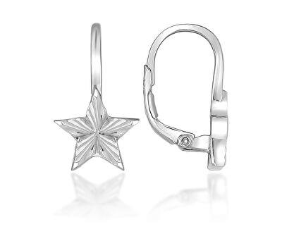 Jemné stříbrné náušnice hvězdičky LME014