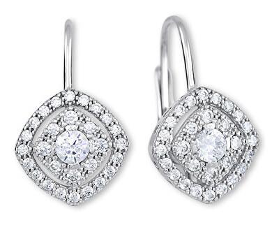 Něžné stříbrné náušnice s krystaly 436 001 00574 04