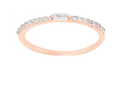 Něžný bronzový prsten se zirkony GR006R